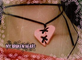 Broken Heart Choker Necklace by KawaiiHeart