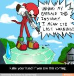 Knuckles at work by DBZSonicsgreatness