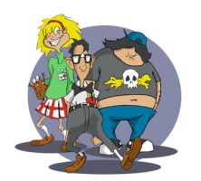 Day of the Tentacle guys by MZiggy