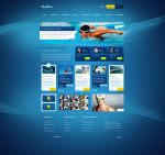 SportyWodne - web design for water sports portal by SycylianBeef