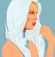 WIP portrait practice by Akadafeathers