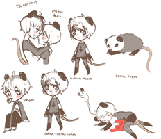 Ursyn and Grave the opossum by myneea