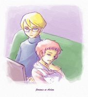 Jeremie et Aelita by Little-Endian