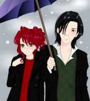 Severus and Lily: in the Snow by KakashiSnapeFan1