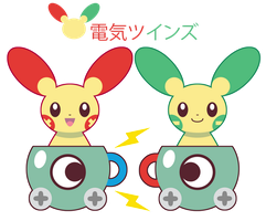 Shiny Electric Twins ::GIFT:: by Itachi-Roxas