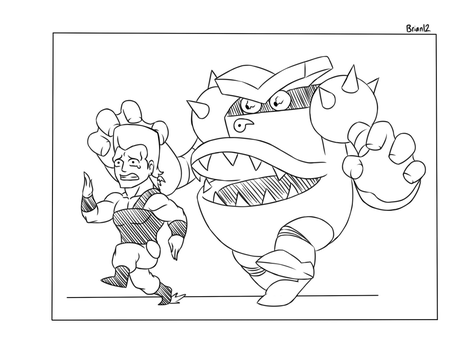 Commission: Toilet chases Polnareff for KZN02 by Brian12