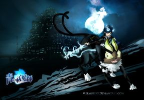 Ao no exorcist - Rin 'n blacky by Nyamesiss