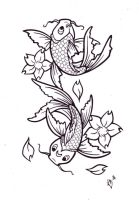 Koi Tattoo Design by BlueUndine