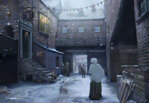 Victorian Alley - Winter by stayinwonderland