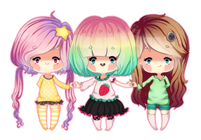 Pagedoll for the CYA trio by purupurin