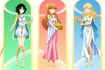 Powerpuff Goddesses triptych by Yet-One-More-Idiot