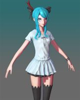 Hatsune Miku: Shader Experiment 2 by HazardousArts
