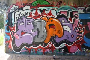 mons colour face letters by Monster-one