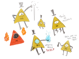 Bill Cipher Sketches :FA: by Swift-The-Kitty