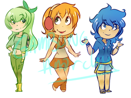 Sinnoh Starters Adoptables [closed] by Archy-tan