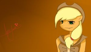 quick applejack sketch :D by flutter-chi