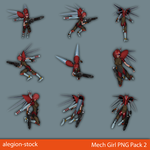 Mech Girl PNG Stock Pack 2 by Alegion-stock