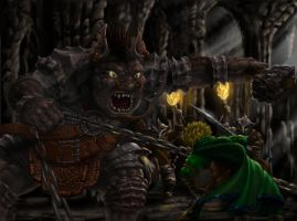 Legolas and the Troll by sboterod