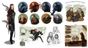 The Hobbit stuffs by Grimhel