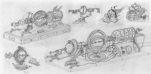 Victorian Style Time Machine Sketches by joeharlow