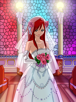 Erza the bride by sexyadri