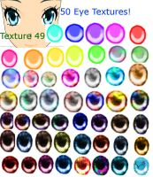 50 eye textures for MMD by glaceon23