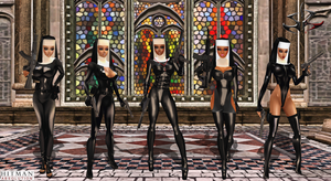Hitman: Absolution-Assassin Latex Nuns_Saints by Krypto4CatSuits