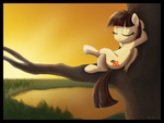 Wild Fire chillin' by DawnMistPony