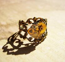 Steampunk Ring by LaOubliette