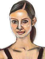 Woman face study n69 by lv888