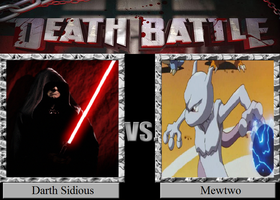 Darth Sidious vs. Mewtwo by JasonPictures