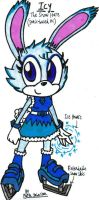 Icy - The Snow Hare (Sonic OC) by KrytenMarkGen-0