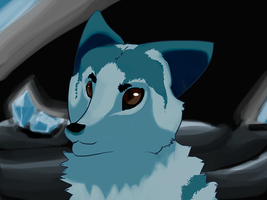 Diamond cave with a marble fox by fireraccoon