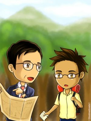 Hetalia APH : Thailand and his king by youngthong-art