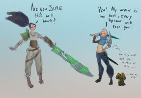 Riven x Yasuo... the nerfing by ValeSora
