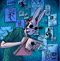Obsessive Rabbit by rabbitmaskedman
