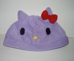 Purple Hello Kitty Hat by kiddomerriweather