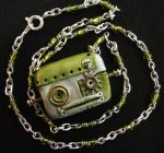 Mossy Robot Necklace by prettypetals