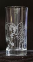 NIghtmare Moon glass (water glass 0,3litres) by rtry