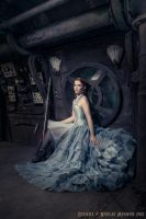 Blue silk overbust corset dress 2013 collection '' by Esaikha