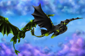 Elver and Toxic (Flight) by Violla-dekl