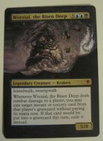 MTG card alter- WWK Wrexial, the Risen Deep by Revolver-Waffle