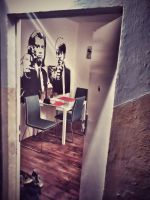 Vincent and Jules on my wall by Picca27