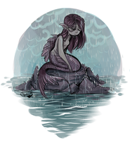 Mermaid in the Rain by sharkie19