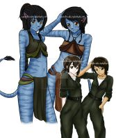 Avatar Girls by SuperXLilXCutie