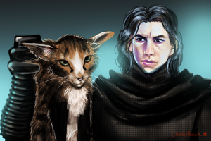 Kylo Ren Cat by ChloexBowie