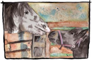 Two Friends by Paintwick