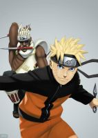 Naruto and Killer Bee by GTColors