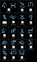 Keyblade symbols by BioMetalNeo