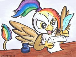 Rainbow Feather writer by C. Paulsen by Q99